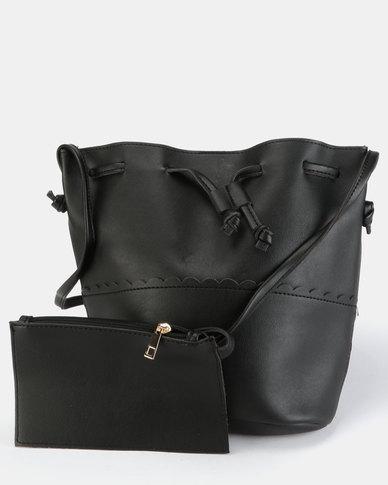 3084e7ce2730 Utopia Drawstring Handbag Black