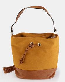 Utopia Two Tone Handbag Mustard