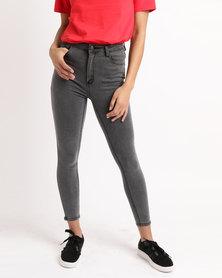 Unseen Harper Faded Skinny Jeans Black