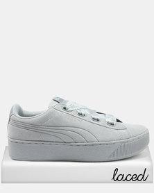 Puma Vikky Platform Ribbon Sneakers Quarry