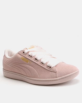 new product af4d5 a3e77 Puma Sportstyle Core Vikky Ribbon Sneakers Pearl