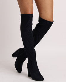 Urban Zone Urban Zone Block Heel Knee High Boots Dusty Pink outlet explore buy cheap pick a best the cheapest cheap online Ti16Fpz