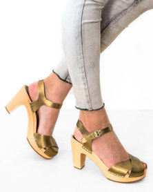 Swedish Hasbeens Merci Sandal Gold