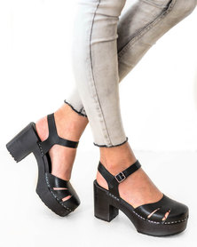 Swedish Hasbeens Baskemolla Sandal Black