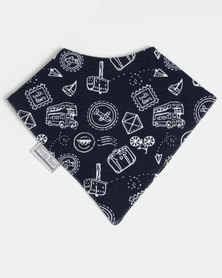 Poogy Bear Bandana Bib Navy Travel