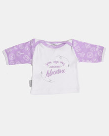 Poogy Bear You Are My Greatest Adventure LS Tee Lilac Travel