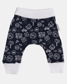 Poogy Bear Harem Leggings Navy Travel