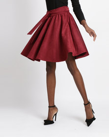 Rustiq Cece Circle Skirt Red