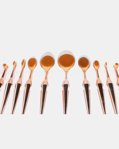 BYS Oval 10 Piece Brush Set