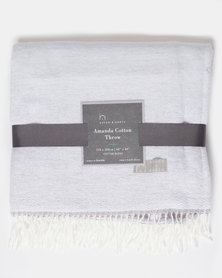 Haven and Earth Natures Amanda Cotton Valley Wild Throw Grey