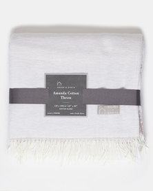 Haven and Earth Amanda Cotton Natures Valley's Throw Neutral