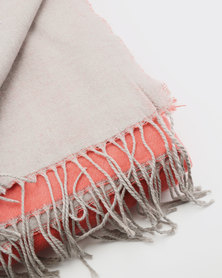 Haven and Earth Amanda Cotton Reversible Throw Orange