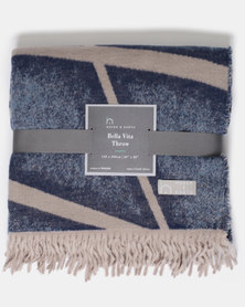 Haven and Earth Bella Vita City Street Throw Navy