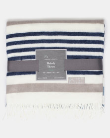 Haven and Earth Melody Fifth Avenue Throw Blue