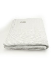 Haven and Earth Protea Throw White