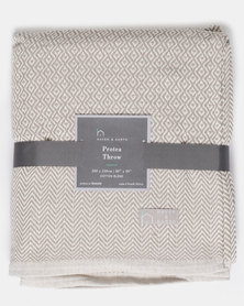 Haven and Earth Protea Throw Neutral