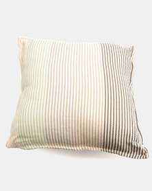 Haven and Earth Pinstripe Scatter Cushion Red/Grey