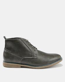 Bata Men's Contemporary Boots Dress Closed Shoes Grey