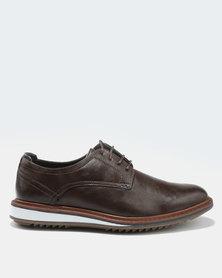Bata Men's Dress Lace-Up Closed Shoes Dark Brown