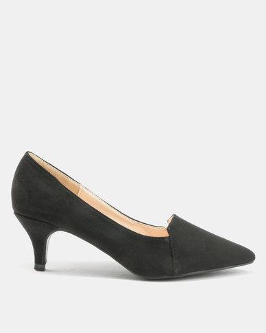 Bata Suede Pointy Heels Black