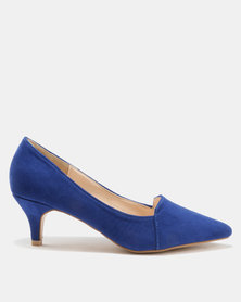 Bata Suede Pointy Heels Blue