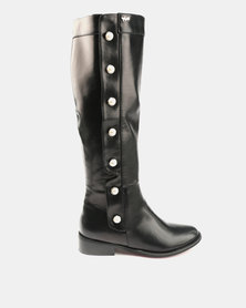 Plum Pearla Knee High Boots Black