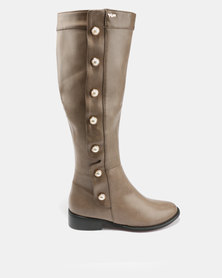 PLUM Pearla Knee High Boots Taupe