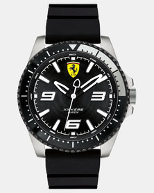 Ferrari Gents Silicone Strap Watch Black