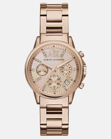 920ba0f8acf Armani Exchange Lady Banks Watch Rose Gold-tone | Zando