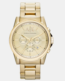 Armani Exchange Outerbanks Watch Gold-Tone