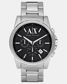 Armani Exchange Outerbanks Watch Silver-Tone