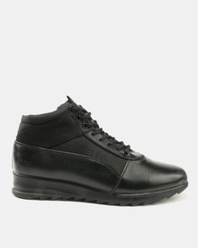 Paul Of London Perforated Lace Ups Black