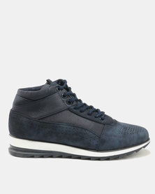 Paul Of London Perforated Lace Ups Navy