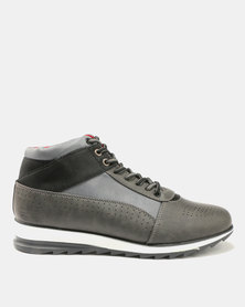 Paul Of London Perforated Lace Ups Grey
