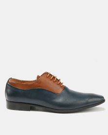 Paul Of London Formal Lace Ups Navy/Tan