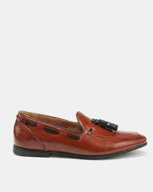 Paul Of London Tassel Slip Ons Tan