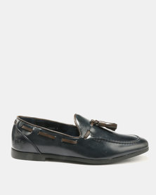 Paul Of London Tassel Slip Ons Navy