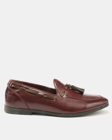 Paul Of London Tassel Slip Ons Burgundy