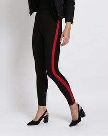 New Look CE Side Stripe Leggings Black