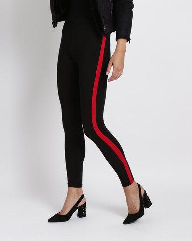 1cb8780c7eb New Look CE Side Stripe Leggings Black