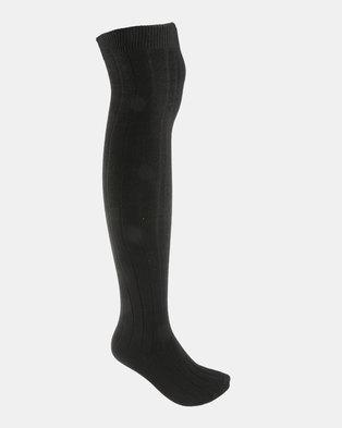 New Look Socks 1PP Rib Black