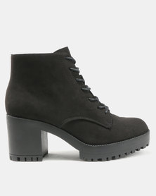New Look Courtesty Lace Up Chunky Boots Black