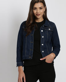 Royal T Oversized Boyfriend Denim Jacket Blue