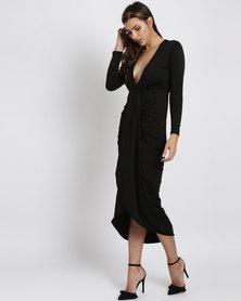 Royal T Wrap Dress Black