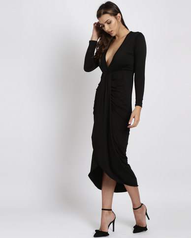Royal T Wrap Dress Black