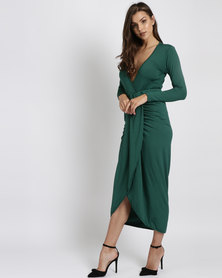 Royal T Wrap Dress Green