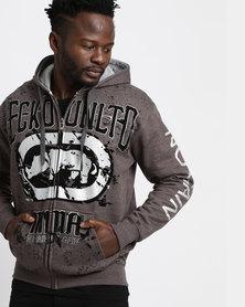Ecko MMA  Basic Zip Hoodie Charcoal Melange