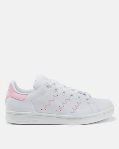 adidas Stan Smith Womens Footwear White Pink  258dbd7dee