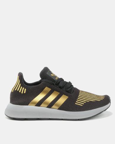 29dfd93a41aea adidas Swift Run Womens Footwear Black Gold
