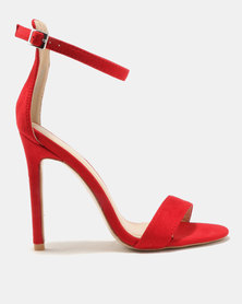 Public Desire Angel Barely There Heels Red